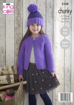 Cardigans & Hats in King Cole Comfort Chunky - 5168 - Downloadable PDF