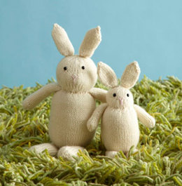 Easter Bunny Toy in Lion Brand Superwash Merino Cashmere - L0137AD