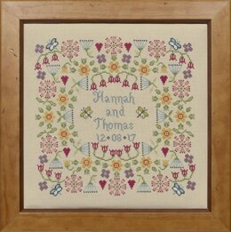 Historical Sampler Company Flower Wedding Sampler Cross Stitch Kit