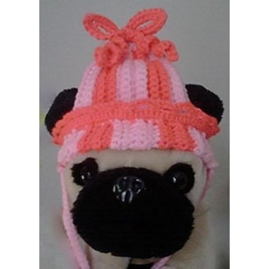 Ribbed Pigtail Hat (for dogs)
