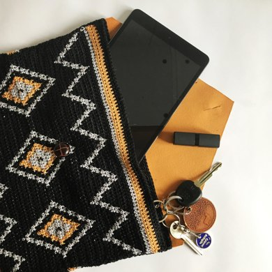 Tribal Leather Clutch