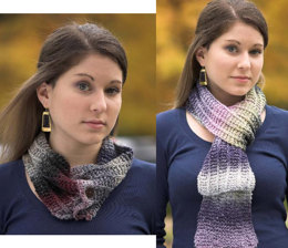 Scarf and Neckwarmer in Plymouth Kudo - F361