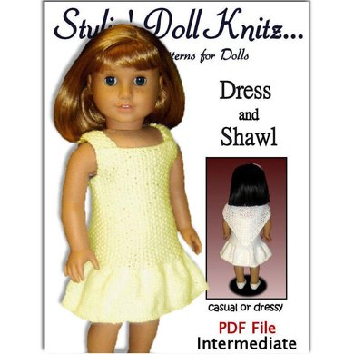 Knitting Pattern for Doll Clothes, fits American Girl Doll and 18 in. dolls. 033