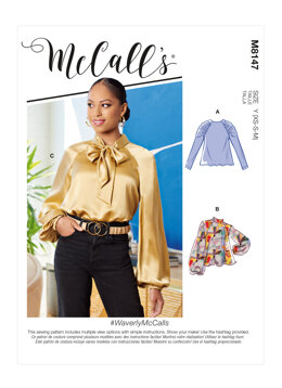 McCall's Misses' Tops M8147 - Sewing Pattern