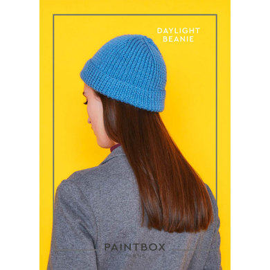 """Daylight Beanie"" : Beanie Knitting Pattern in Paintbox Yarns DK 
