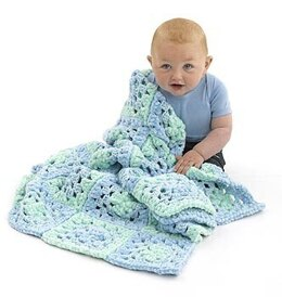 Super Soft Granny Baby Blanket in Lion Brand Velvetspun and Babysoft - Downloadable PDF