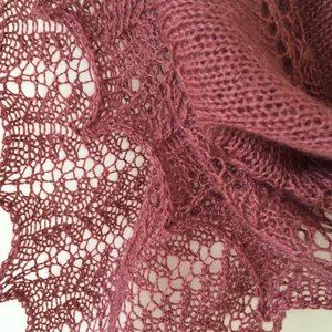 bressay hap wrap Designed by sharon miller, this intricate wrap is worked in our beautiful fine lace yarn.
