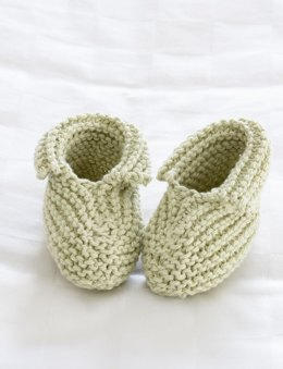 Precious Booties in Bernat Handicrafter Cotton Solids