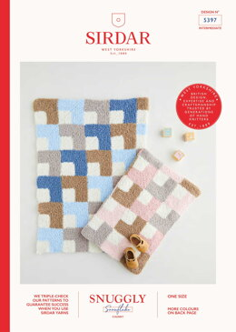 Mitred Square Blanket in Sirdar Snuggly Snowflake Chunky 50g - 5397 - Leaflet