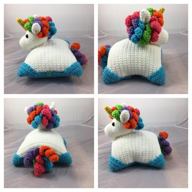 Unicorn Pillow Pal Crochet Pattern By Lisa Kingsley