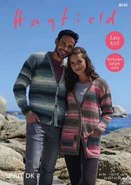Cardigans in Hayfield Spirit DK - 8040 - Downloadable PDF