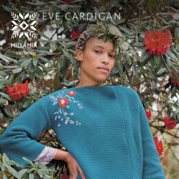 Eve Cardigan -  Cardigan Knitting Pattern For Women in MillaMia Naturally Soft Cotton by MillaMia