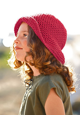 Crocheted Sunhat in Bergere de France Sonora - 25 - Downloadable PDF
