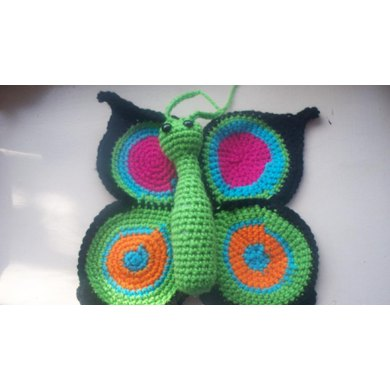Knitting Pattern Butterfly Toy : Butterfly Baby and Toddler Toy and Lovey Crochet pattern by Heidi Knitting ...