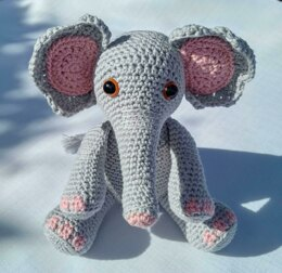 Eva the Elephant - UK Terminology - Amigurumi