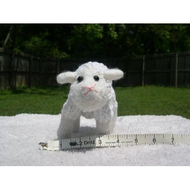 Knitted/Felted White Sheep