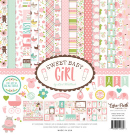"Echo Park Paper Echo Park Collection Kit 12""X12"" - Sweet Baby Girl"