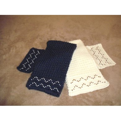 Scarf with Beaded Rick-Rack
