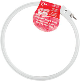 Bates Plastic Embroidery Hoop - Light Blue 7in
