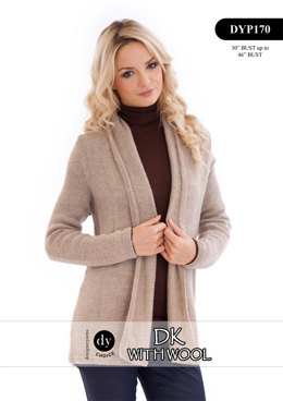 Cardigan in DY Choice DK With Wool - DYP170