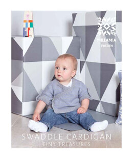 """Swaddle Cardigan"" - Cardigan Knitting Pattern For Babies in MillaMia Naturally Soft Aran"