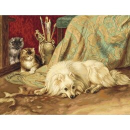 Luca-S The Dog & Cats Cross Stitch Kit - Multi