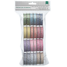 American Crafts Baker's Twine Value Pack 5yd Spools 24/Pkg - Bright, 12 Colors/2 Each