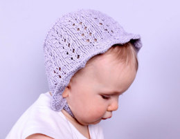 Baby Bonnet in Plymouth Yarn Cashmere De Cotone - f713