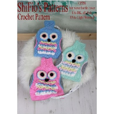 Owl Hot Water Bottle Cover 356 Crochet Pattern By Shifios Patterns
