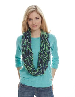 Garter Stitch Arm Knit Cowl in Patons Delish and Classic Wool Worsted