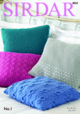 Cushion Covers in Sirdar No.1 - 8050