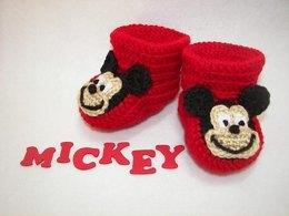 Mickey Mouse Baby Booties