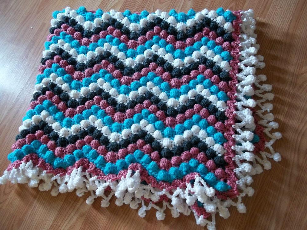 Dizzy Bobble Blanket Crochet Pattern By Brandi Isham