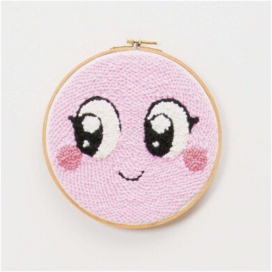 Rico Punch Needle Kit - Smiley Pink