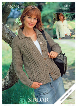 Cardigans in Hayfield Aran with Wool - 8485 - Downloadable PDF