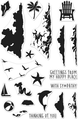"""Hero Arts Color Layering Clear Stamps 4""""X6"""" - Sea & Sky"""