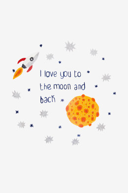 To The Moon And Back in DMC - PAT0723 - Downloadable PDF