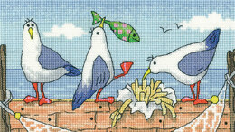 Heritage Fish n Chips Cross Stitch Kit - 19.5cm x 11.5cm