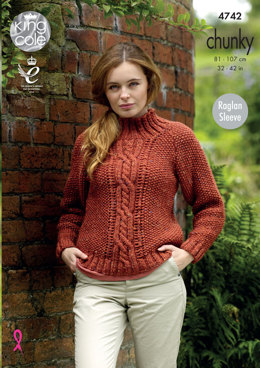 Sweaters in King Cole Chunky Tweed - 4742 - Leaflet