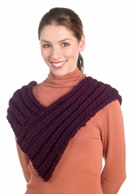Chunky Rib Scarf in Lion Brand Wool-Ease Thick & Quick - 50761
