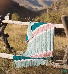 Braided Cable Chevron Afghan