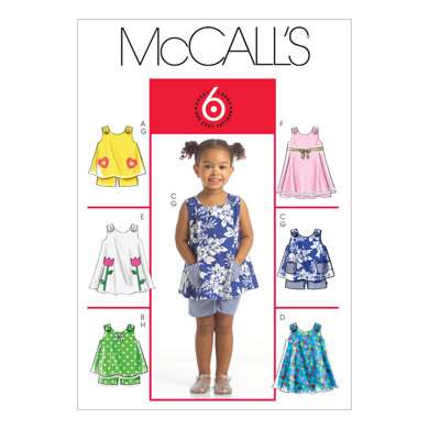 McCall's Toddlers' Tops, Dresses and Shorts M5416 - Sewing Pattern