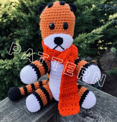 Hobbes Striped Tiger Amigurumi
