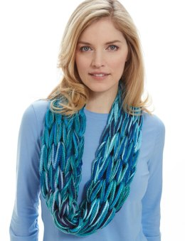 I-Cord Arm Knit Cowl in Bernat Bargello