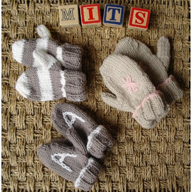Easy Baby And Toddler Mittens Knitting Pattern By Sproglets Kits