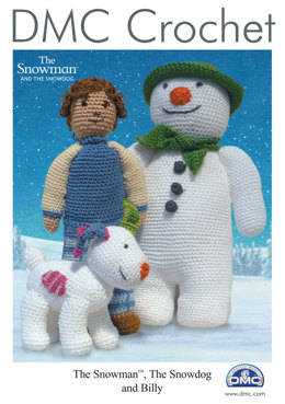 The Snowman, The Snowdog and Billy in DMC Petra Crochet Cotton Perle No. 3 - 15033L/2