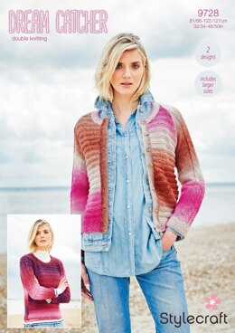 Jumper and Cardigan in Stylercraft Dreamcatcher - 9728 - Downloadable PDF