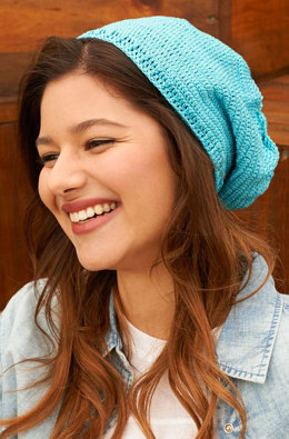 Slouchy Crochet Beanie in Aunt Lydia's - LC4483 - Downloadable PDF