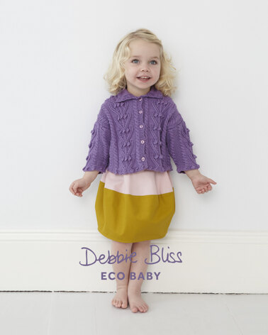 Bobble Cable Cardigan in Debbie Bliss Eco Baby - Downloadable PDF