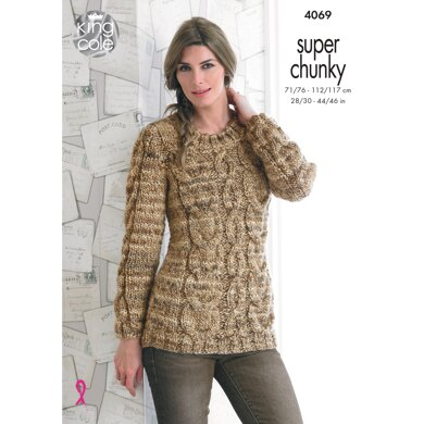Sweaters in King Cole Super Chunky - 4069 - Downloadable PDF
